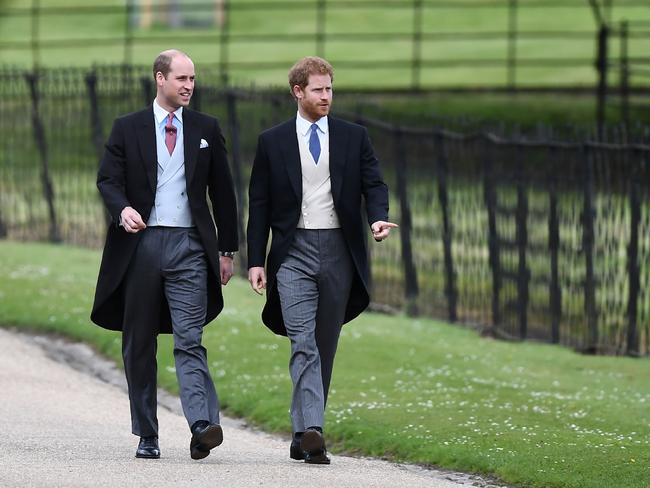 The brothers walk to the church.