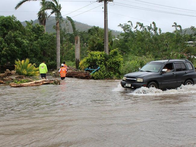 A major storm lashed Tonga in the early hours of this morning. Picture: AFP/Samoa Red Cross