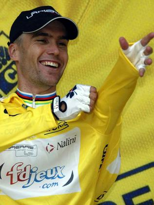 And he donned the leader's yellow jersey at the Tour de France in 2003.