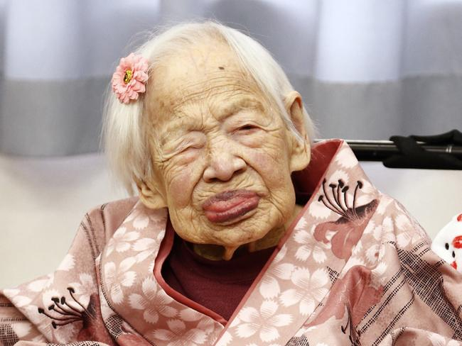 Long life ... The world's oldest person, Misao Okawa, has died a month short of her 117th birthday. Picture: AFP Photo