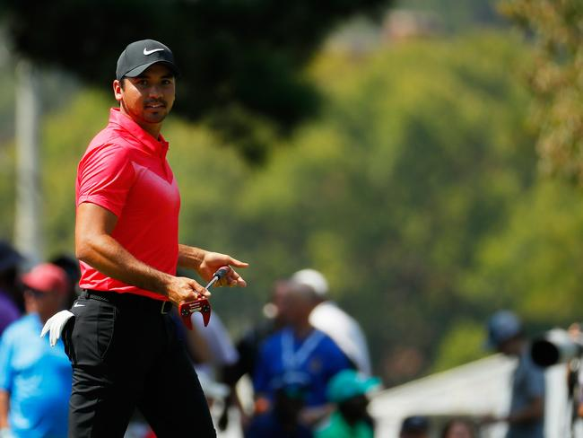 Jason Day of Australia walks on the first green during the first round of the Tour Championship.