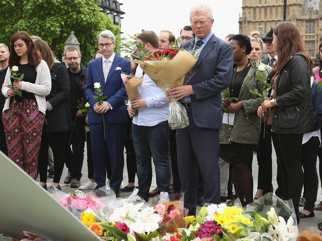 Labour Party member leaders lay tributes in London. Picture: Dan Kitwood/Getty Images