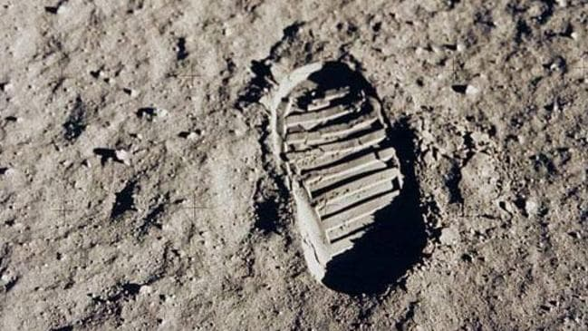The moon's dusty surface and no atmosphere preserves the bootprint left by the Apollo 11 crew. Source: NASA