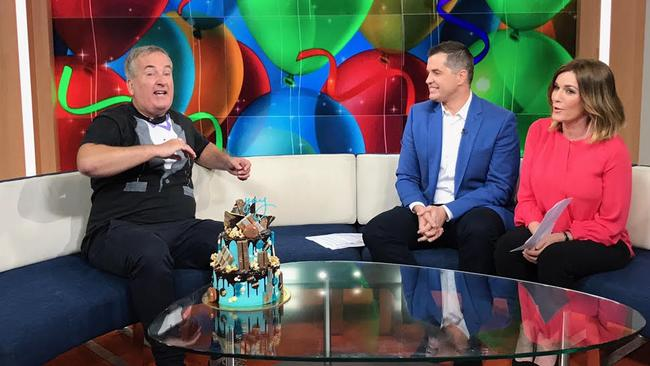 Glenn Wheeler still entertaining the gang on The Morning Show