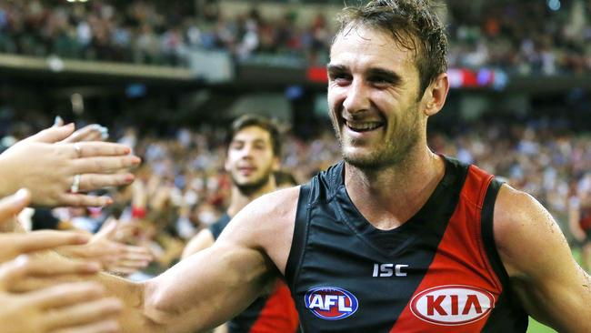 Jobe Watson will wait until the end of the season to decide on his future. Picture: George Salpigtidis