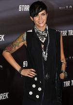 <p>The Sydney Opera House hosts the world premier of the new Star Trek movie. ( L to R ) Ruby Rose Pic. Dobson</p>