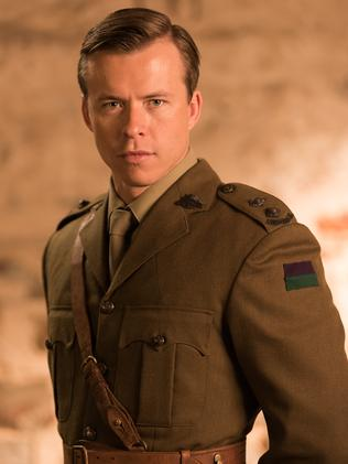 Todd Lasance is Major Sydney Cook in  <i>ANZAC Girls</i>. Picture: Matt Nettheim