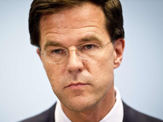 Calls for co-operation ... Dutch Prime Minister Mark Rutte has demanded investigators be given immediate access to the crash site. Picture: Evert-Jan Daniels