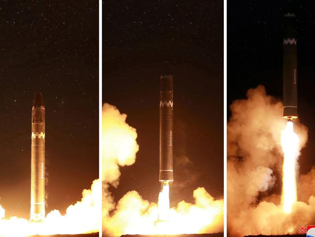 North Korea's Hwasong-15 missile is capable of reaching all parts of the US, according to Pyongyang's state media. Picture: AFP/KCNA