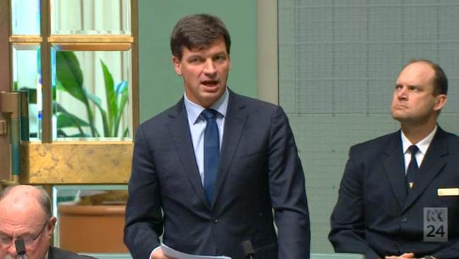 Angus Taylor during question time.