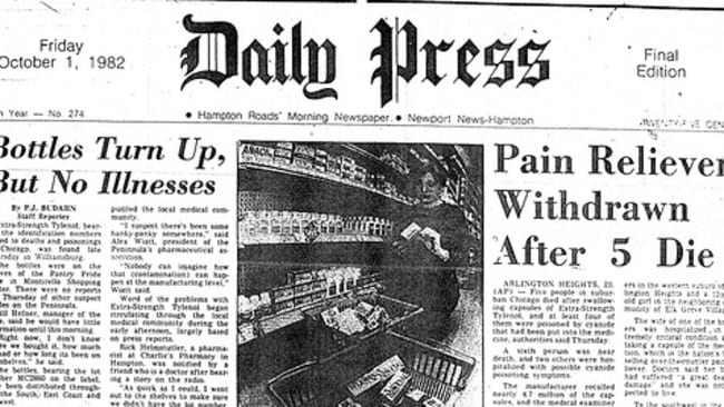 account of the tylenol cyanide crisis of 1982 10-02-2010 seven people died in 1982 after taking tylenol capsules, which had been tampered with and contaminated with cyanide according to effective crisis management, tylenol's market share quickly went from 37 percent to only seven percent.