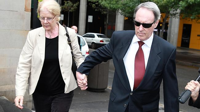 Robert Hughes and his wife Robyn Gardiner outside court / Picture: Cameron Richardson