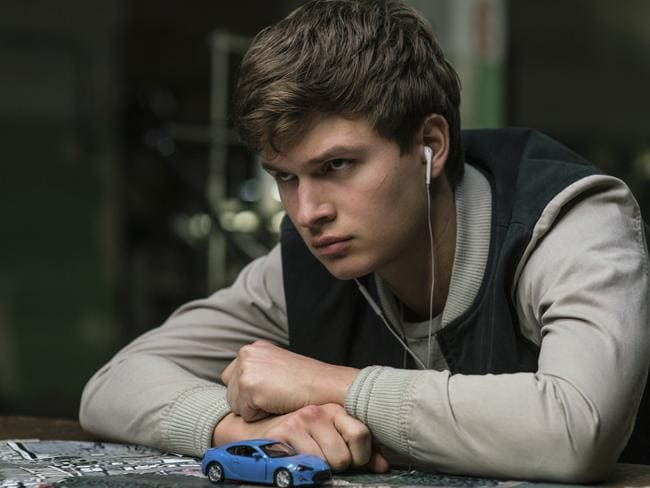 Ansel Elgort in Baby Driver.