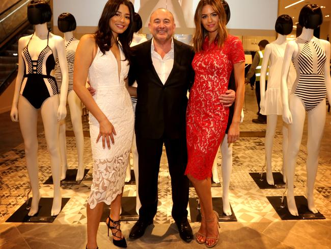 Ian Moir with Jessica Gomes and Jesinta Campbell.