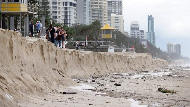Surfers Paradise Beach has suffered major erosion