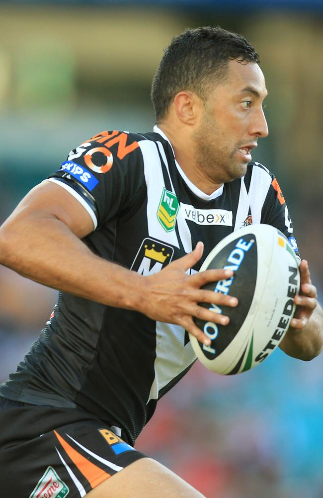 Benji Marshall makes a break for the Tigers.