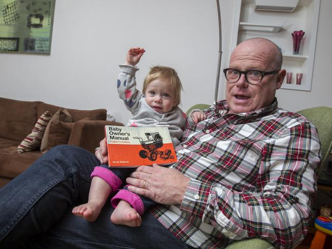 Bedwell, pictured with his daughter Eloise, has written a book titled Toddler Owner's Manual for fathers and compares it with looking after a car.