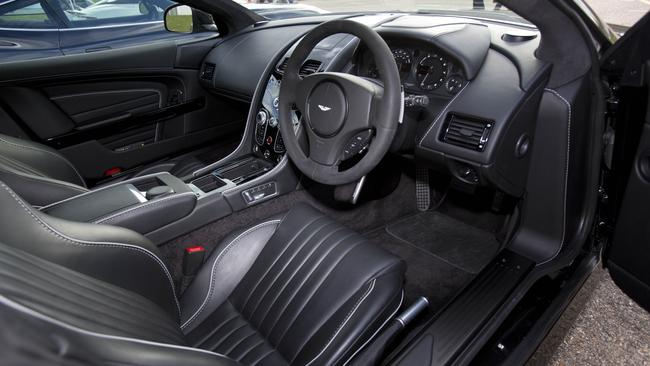 Sleek look interior; as you would expect from Aston Martin. Pix: Tim Anderson/ C20th Fox