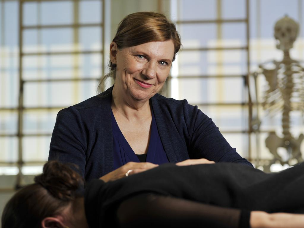 Physiotherapist Jenny Woods, the WA Ballet company's Head of Dancer Wellbeing. Picture: Stewart Allen.