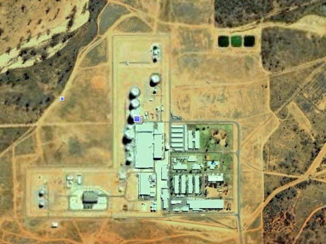 Pine Gap near Alice Springs has grown over the years.