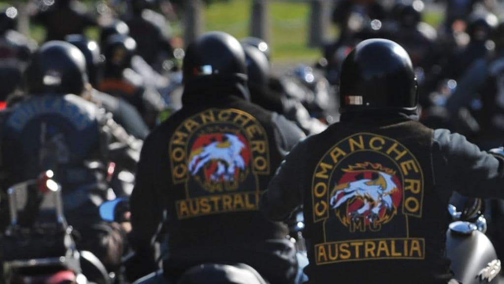 Police have busted bikies during raids on homes in Melbourne's southeast this morning. Picture: Dean Lewins.
