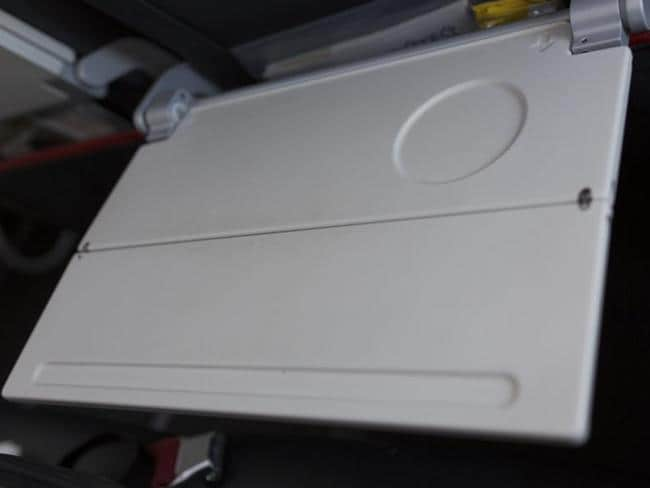 The humble tray table is a haven for bacteria.