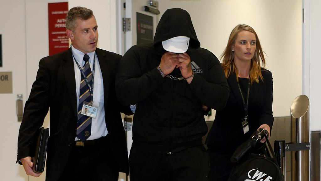 "Mahmoud ""Brownie"" Ahmad is arrested at Sydney Airport."