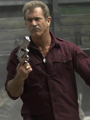 Mel Gibson is the bad guy, international arms smuggler Conrad Stonebanks. Picture: Supplied