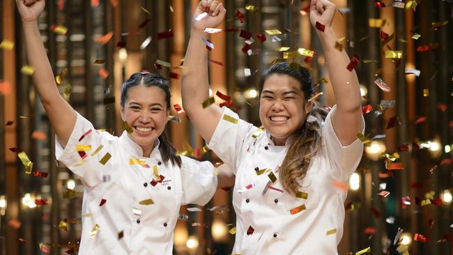 my kitchen rules grand final: tasia and gracia win over carmine