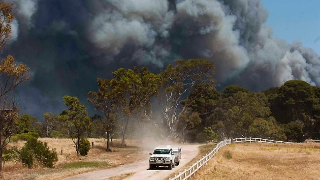 Bush fire near Port Lincoln