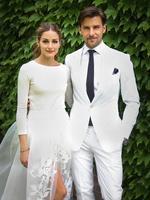 Fashionista Olivia Palermo reveals her wedding to Johannes Huebl over the weekend. Picture: Twitter