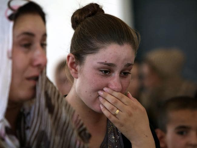 "The Yazidis, are a small community that follows a 4000-year-old faith and its followers have been repeatedly targeted by jihadists who call them ""devil-worshippers"" because of their unique beliefs and practices. Picture: AFP/Safin Hamed"