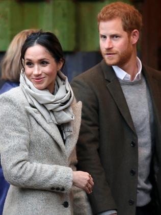 Prince Harry (R) and his fiancee Meghan Markle. Picture: Getty