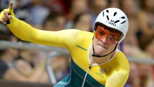 Australian wins gold against England in the team pursuit.