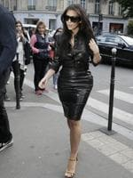 Kim Kardashian walks in Paris. Kardashian and partner US musician Kanye West are expected to be tying the knot this weekend, fuelling speculation about the wedding's location. Florence's La Nazione daily reported that they would have a marriage ceremony in France early on May 24, before travelling to Italy for the party.Picture: AFP