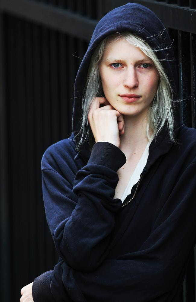 Australian model Julia Nobis, who took to the front row at the Myer show.