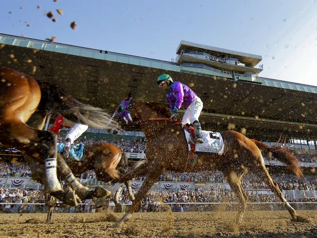 California Chrome with Victor Espinoza finishes behind the placegetters. Picture: AP