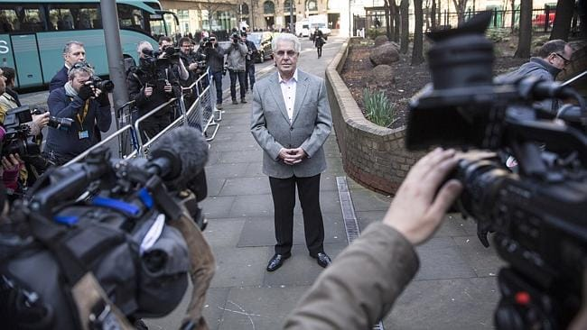 Max Clifford arrives at Southwark Crown Court. Picture: Oli Scarff