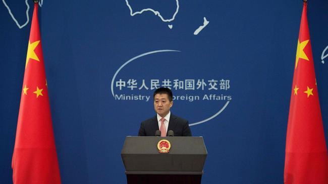 Chinese Foreign Ministry spokesman Lu Kang has denounced Foreign Minister Julie Bishop.