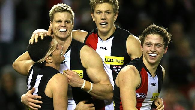 There are some positive signs for St Kilda going forward. Picture: Wayne Ludbey