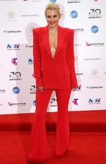 Carissa Walford arrives on the red carpet for the 30th Annual ARIA Awards 2016 at The Star on November 23, 2016 in Sydney, Australia. Picture: Jonathan Ng