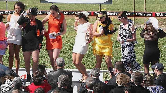 Wind can be a major factor at the races. So make sure you're prepared ladies. Picture: Jo-anna Robinson