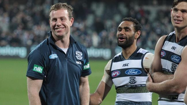 Steve Johnson is set to return for Geelong against Hawthorn.