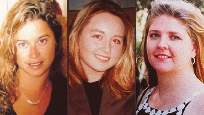 Victims: Ciara Glennon, Sarah Spiers and Jane Rimmer who fell victim to the Claremont serial killer from January 1996 to March 1997.
