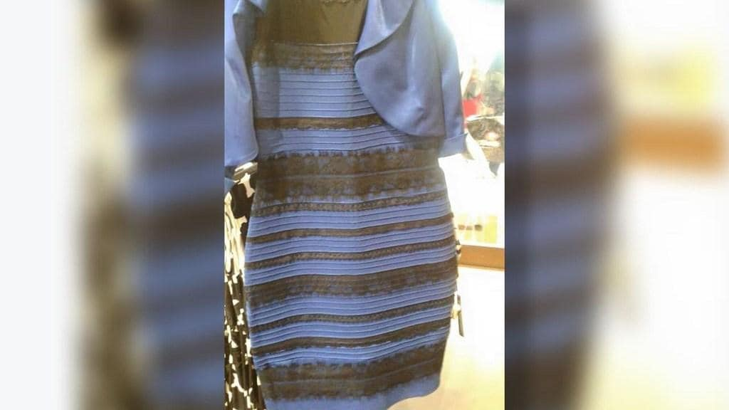 What color do you see on the dress