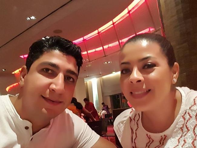Hamid Mobarrez and his wife Tamy. Picture: Facebook