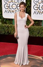 E! News' Maria Menounos arrives at the 73rd annual Golden Globe Awards on Sunday, Jan. 10, 2016, at the Beverly Hilton Hotel in Beverly Hills, Calif. Picture: Jordan Strauss/Invision/AP