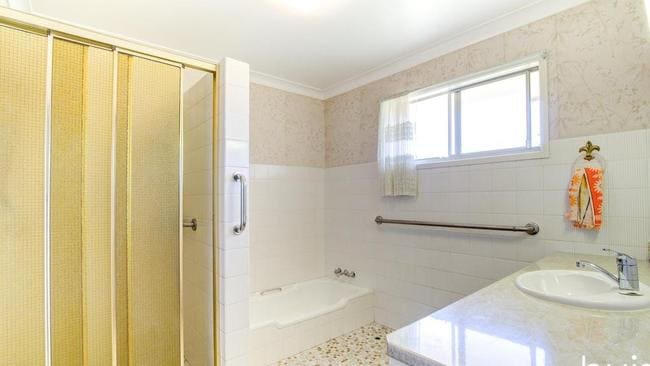 The bathroom in the house at 75 Bracken St, Moorooka. Picture: realestate.com.au.