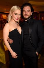 Emilia Clarke and Kit Harington of 'Game of Thrones' attends HBO's Official 2018 Golden Globe Awards After Party on January 7, 2018 in Los Angeles, California. Picture: Getty