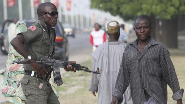 High alert ... the radical sect Boko Haram has been waging a brutal battle in Nigeria for six years, but their horrific acts have intensified in the past year. Picture: AP